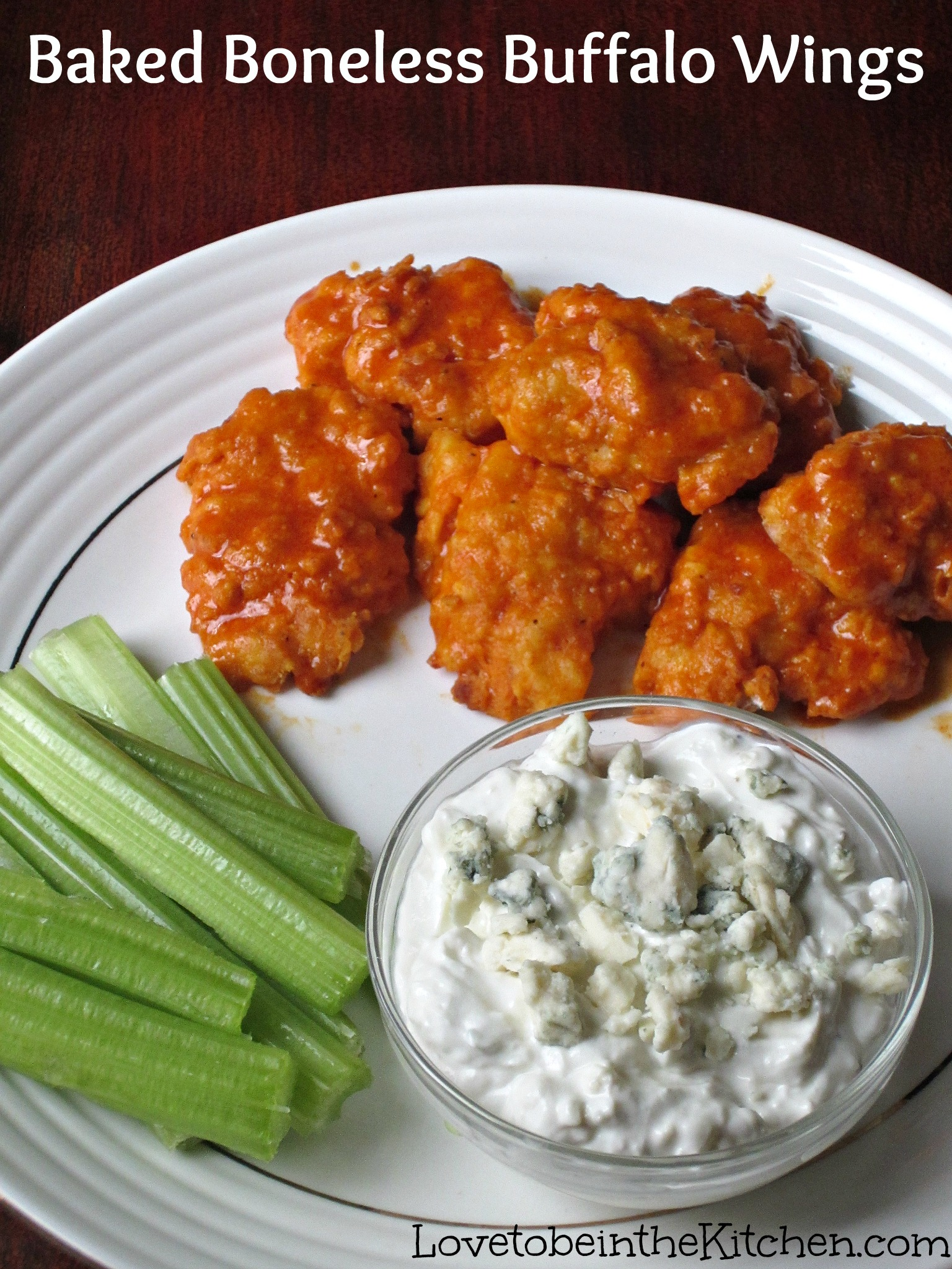 ... Baked Boneless Buffalo Wings ! Perfect for game days, parties etc