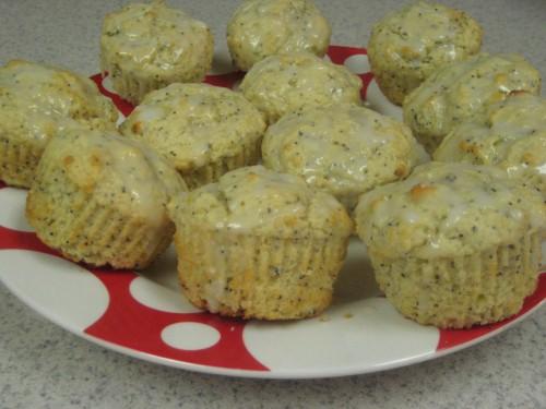 Lemon Poppy Seed Muffins with Lemon Glaze