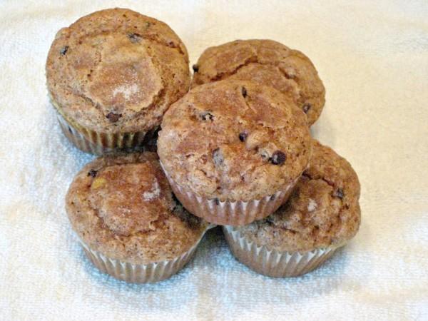 Healthified Banana Chocolate Chip Muffins