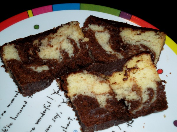 Chocolate Marble Bread with Ganache