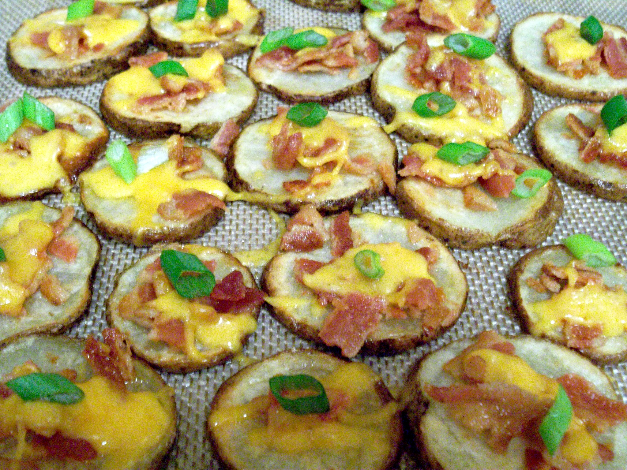 Cheese and Bacon Potato Rounds - Love to be in the Kitchen