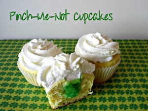 Pinch-Me-Not Cupcakes (Lemon Cream Cupcakes with Lime Filling and Lemon Whipped Cream)