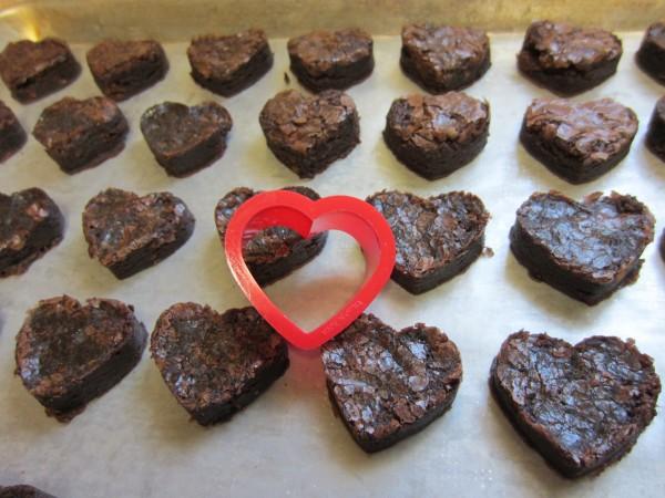 Chocolate Covered Brownie Hearts