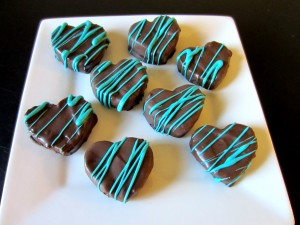 Chocolate Covered Brownie Hearts