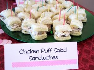 Chicken Salad Puff Sandwiches