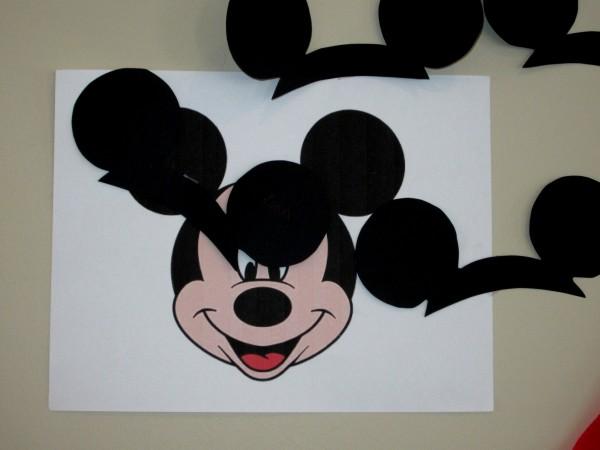Pin the ears on Mickey