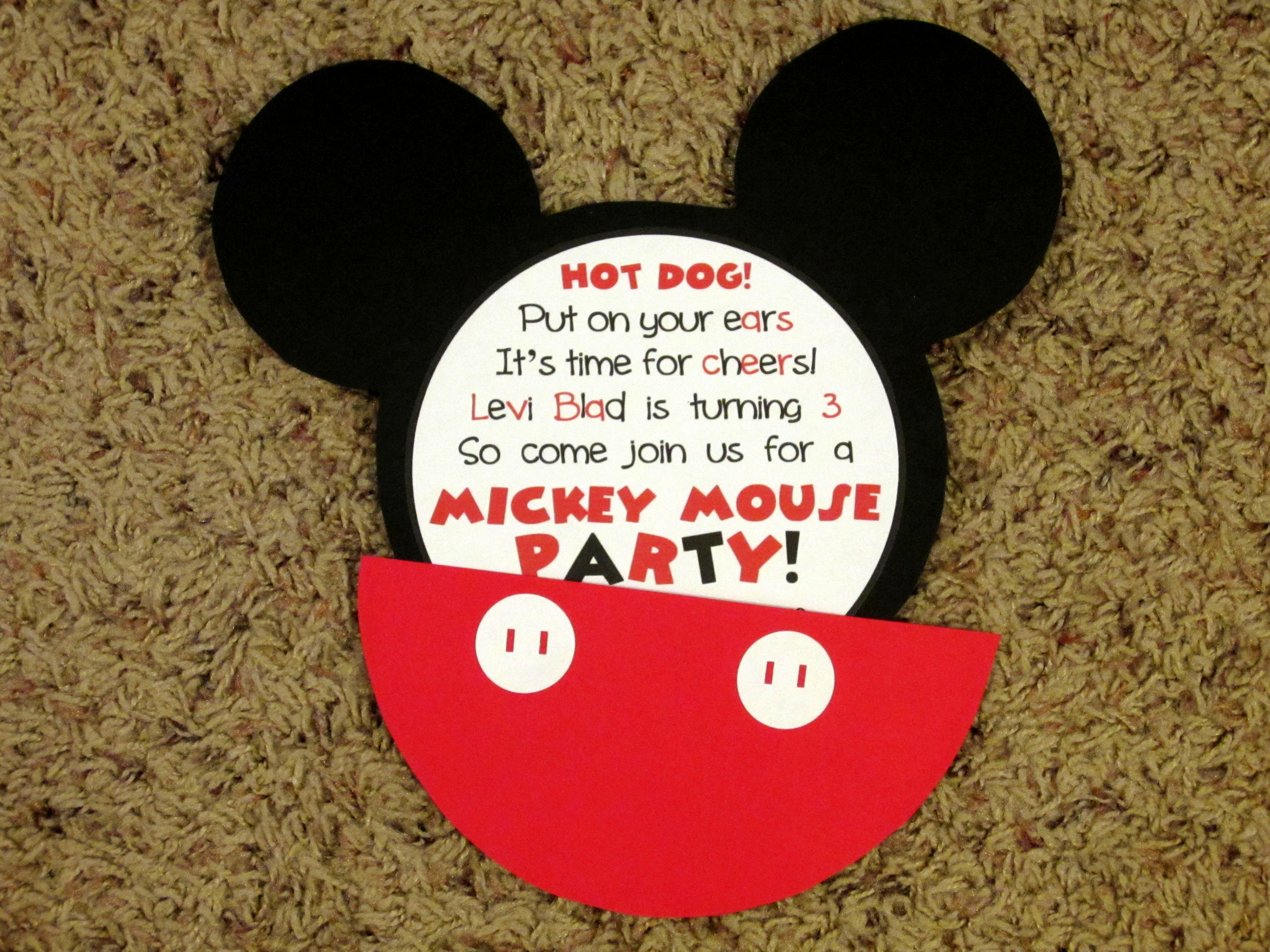 diy mickey mouse invitations