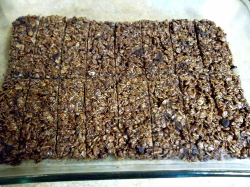 Dark Chocolate Granola Bars