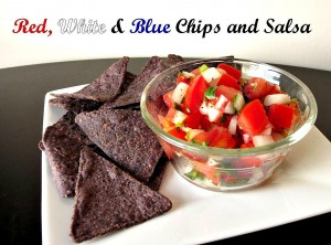 Red, White and Blue Chips & Salsa