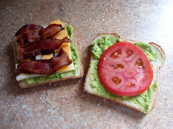 Bacon, Tomato & Guacamole Grilled Cheese