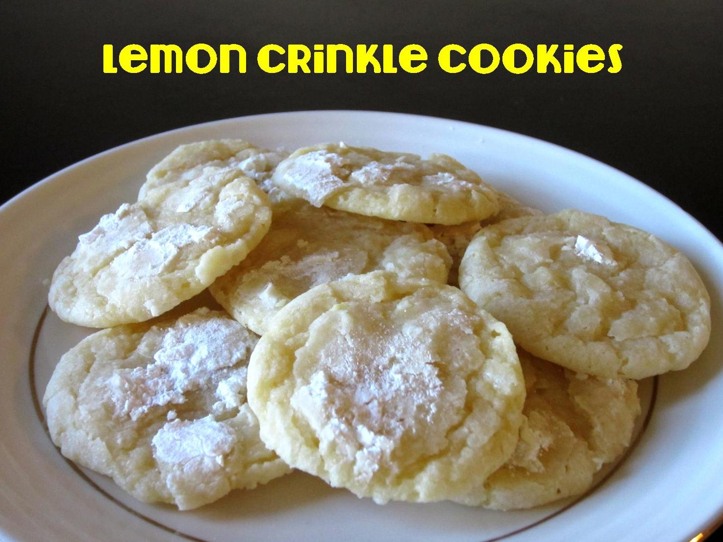 Lemon Crinkle Cookies Love To Be In The Kitchen