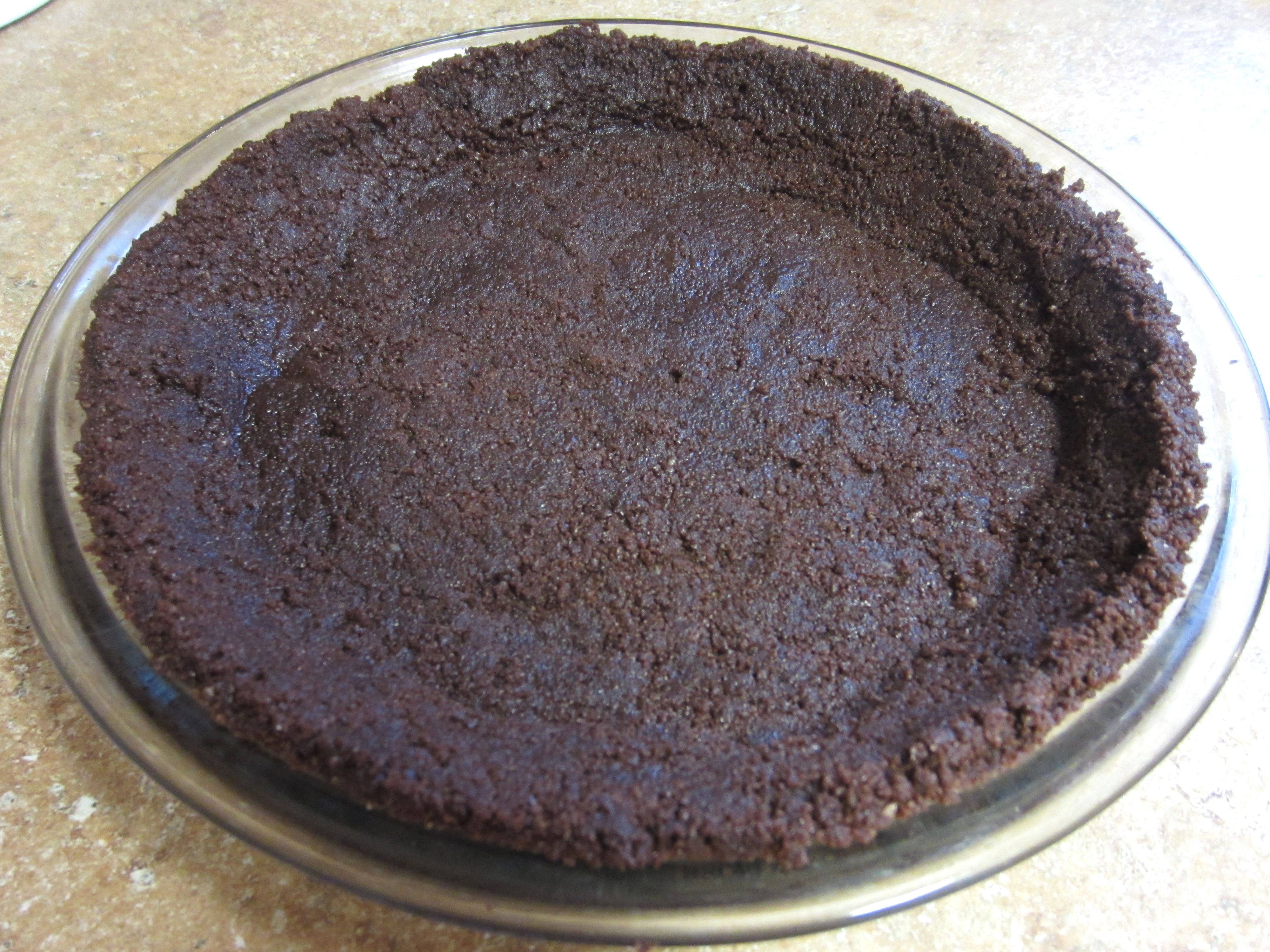 Homemade Chocolate Cookie Pie Crust - Love to be in the Kitchen