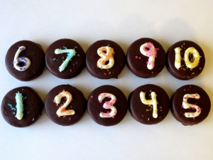 New Year's Eve Chocolate Covered Oreos