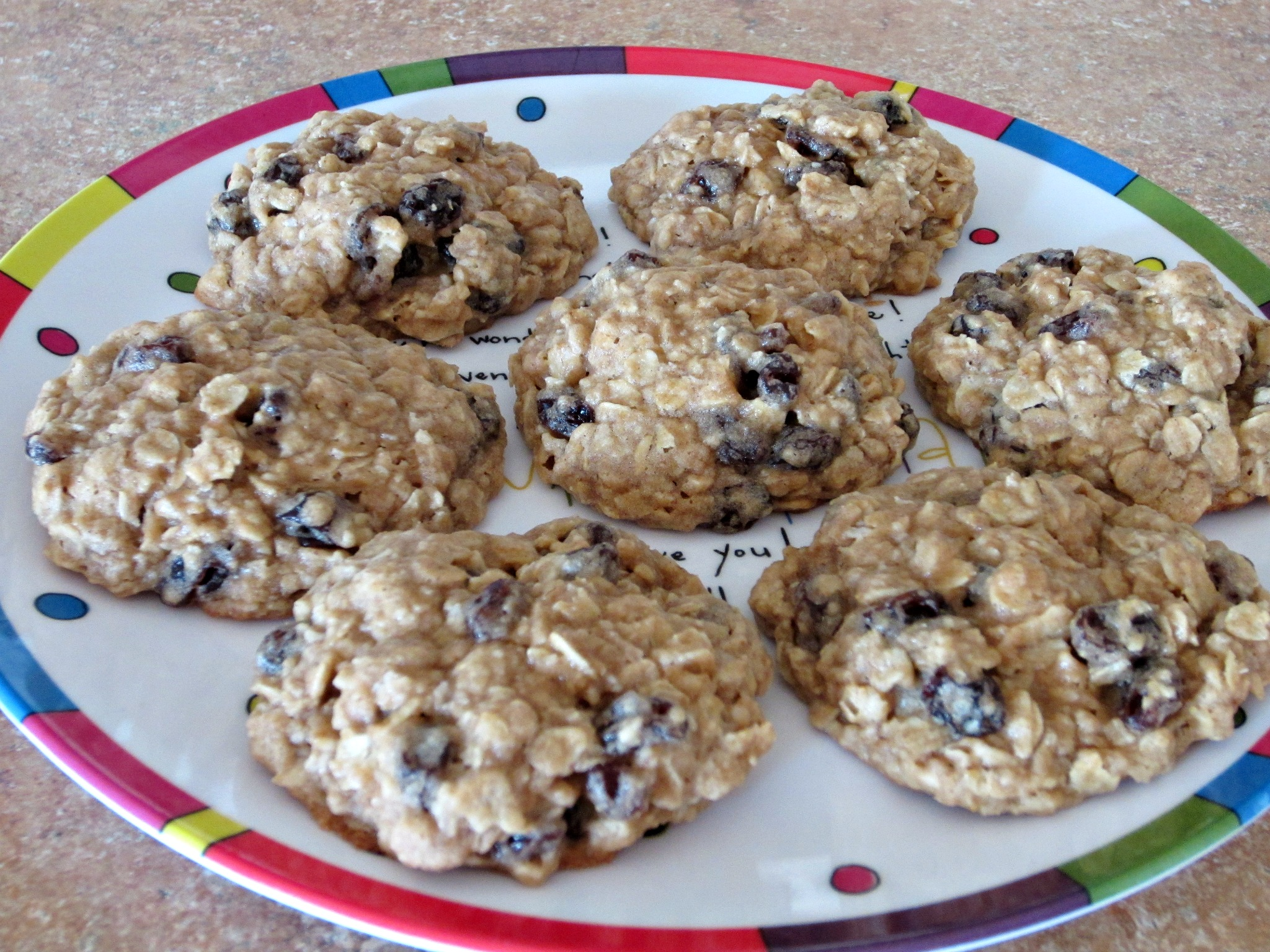 Thick & Chewy Oatmeal Raisin Cookies - Love to be in the Kitchen