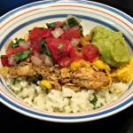 Burrito Bowls w Lime Cilantro Rice #slowcooker #crockpot