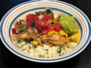 Burrito Bowls with Cilantro Lime Rice