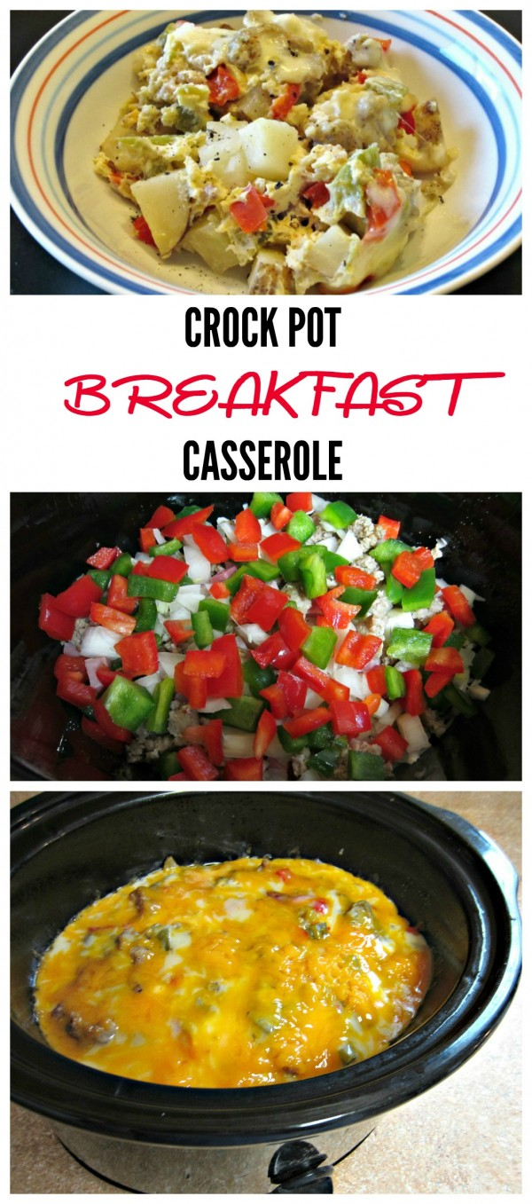 Crock Pot Breakfast Casserole- Easy to make and oh so good!