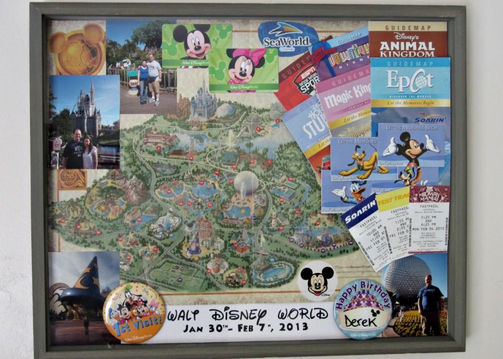 Disney World Shadow Box