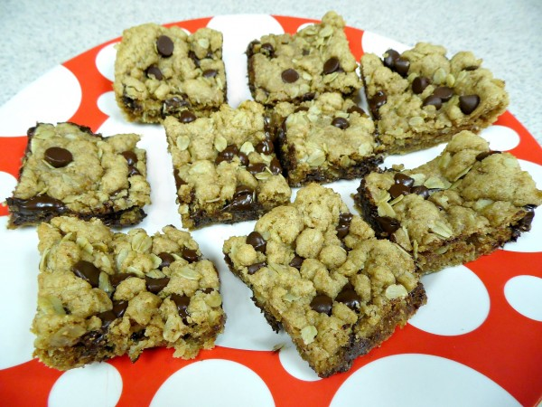 Lightened Up Chocolate Chip Cookie Bars