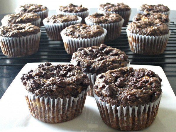 Fudgy Chocolate Banana Flax Muffins - Love to be in the ...