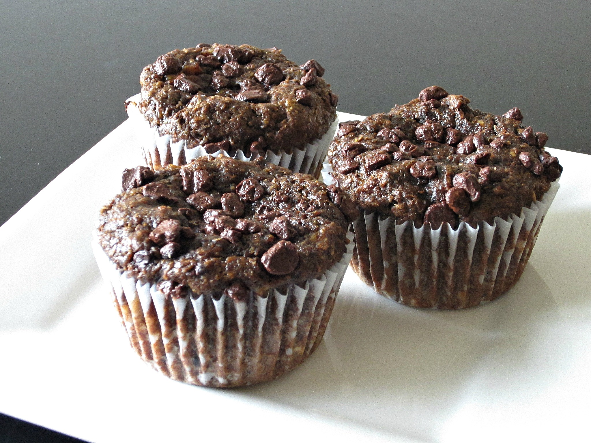 Fudgy Chocolate Banana Flax Muffins - Love to be in the Kitchen