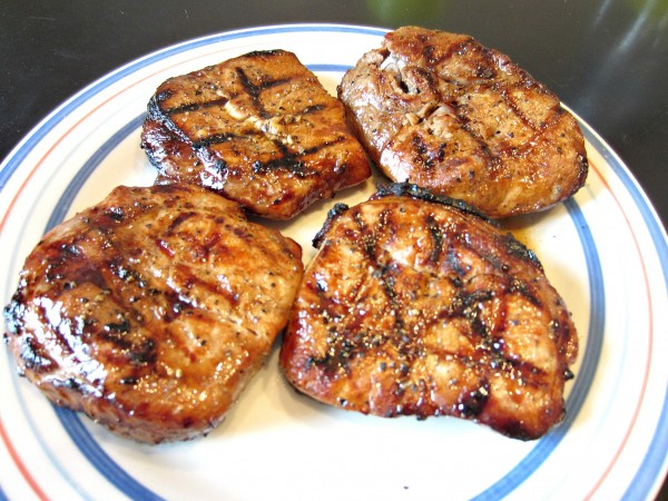 Marinated Grilled Pork Chops - Love to be in the Kitchen