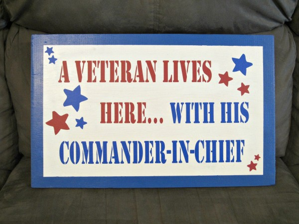 A Veteran Lives Here with his commander in chief