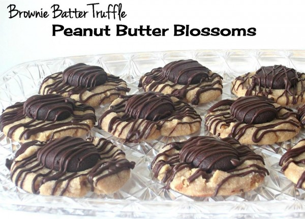 Brownie Batter Truffle Peanut Butter Blossoms