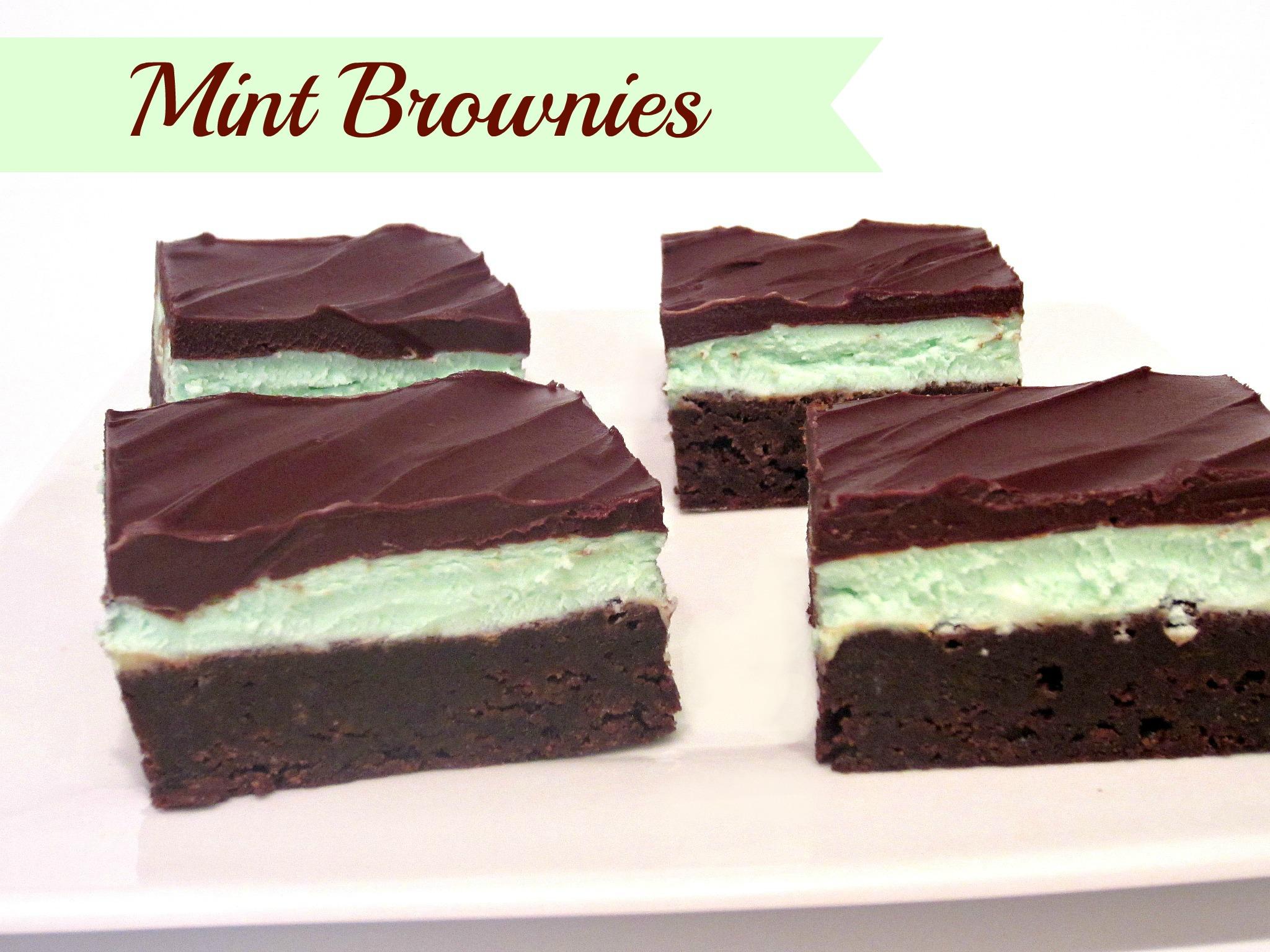 chocolate mint brownie bites chocolate mint brownies recipe chocolate ...