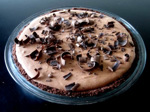 Lighter Frozen Chocolate Mousse Pie