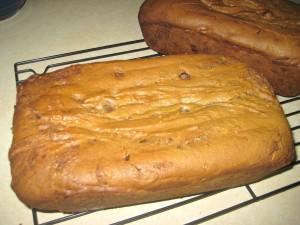 Marbled Chocolate Chip Pumpkin Bread