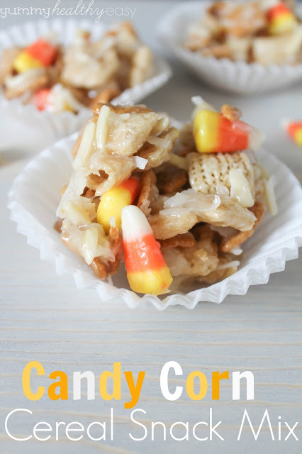 Candy Corn Cereal Snack Mix