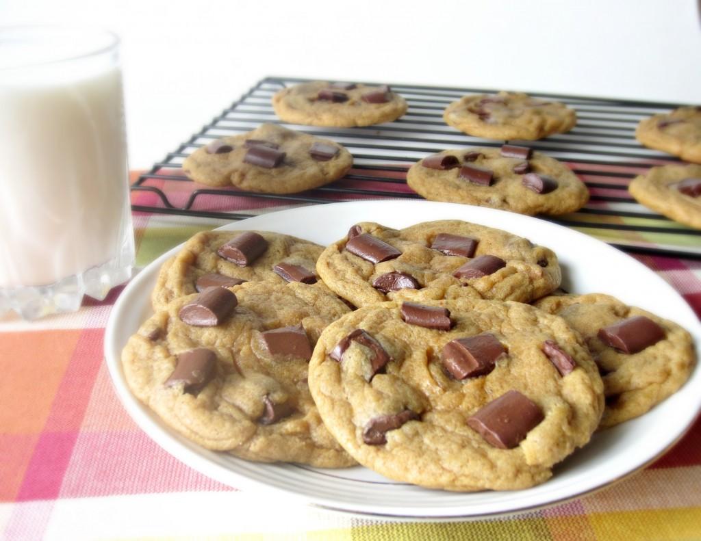 Chewy Chunky Chocolate Pumpkin Cookies