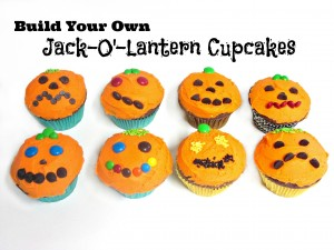 Build Your Own Jack-O'-Lantern Cupcakes