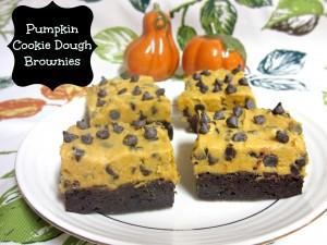 Pumpkin Chocolate Chip Cookie Dough Brownies