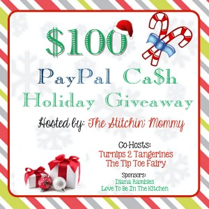Holiday Giveaway-$100 PayPal Cash