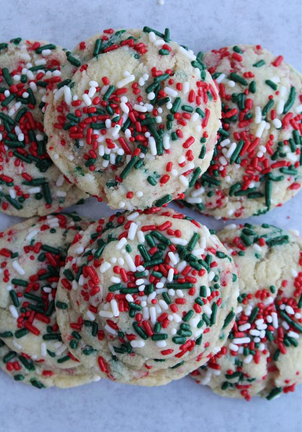 Christmas Funfetti Cookies
