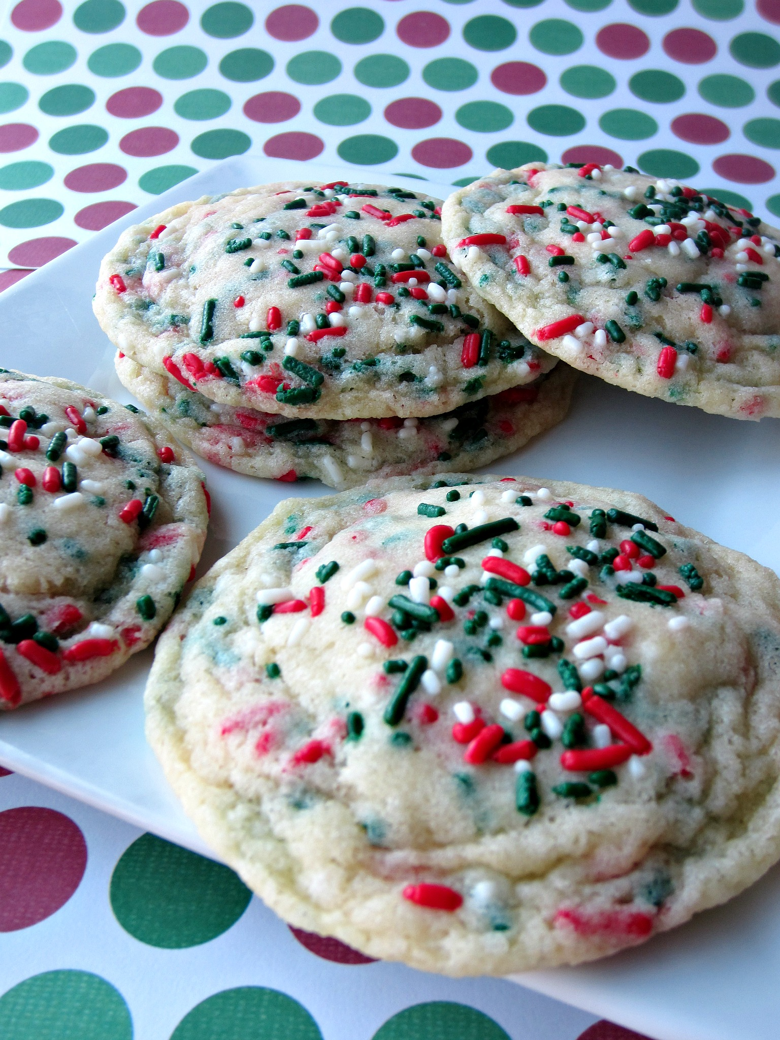 Christmas Funfetti Cookies - Love to be in the Kitchen