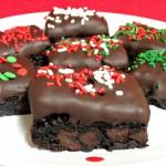 Chocolate Dipped Brownie Bites (3)