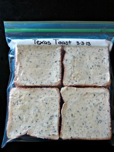 Garlic Texas Toast - Freeze your own!