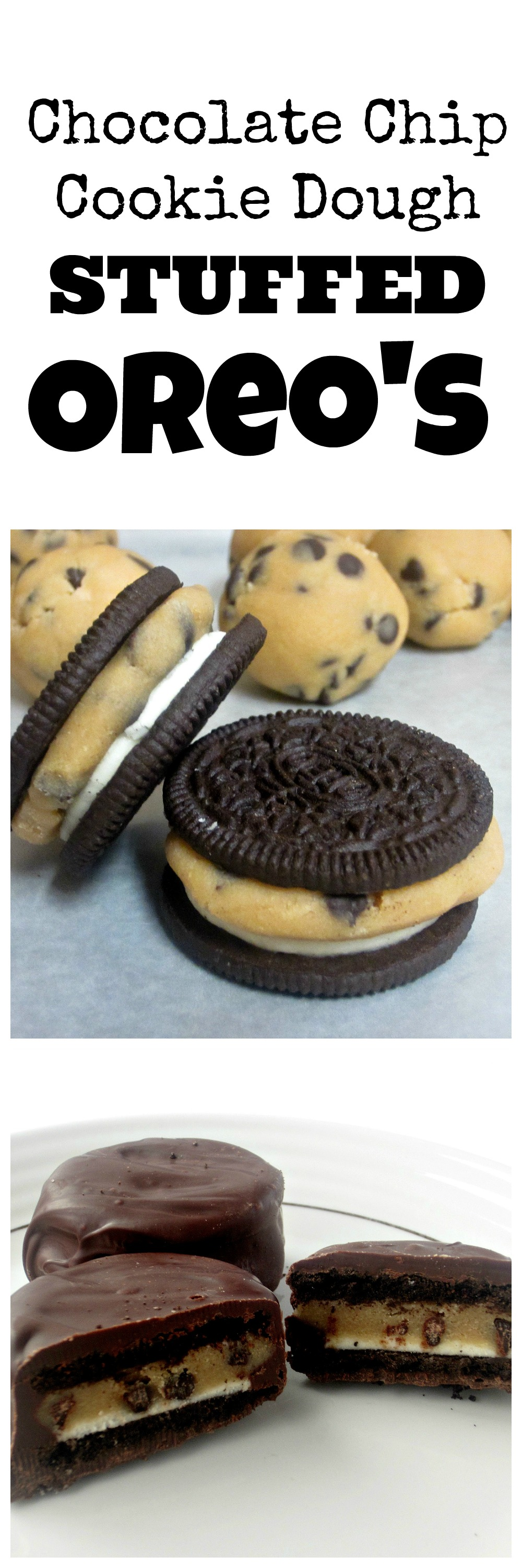 Stay up to date on my newest recipes by following Love to be in the    Cookie Dough Oreos