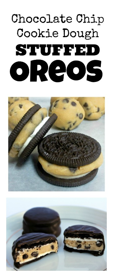 Cookie Dough Stuffed Oreos