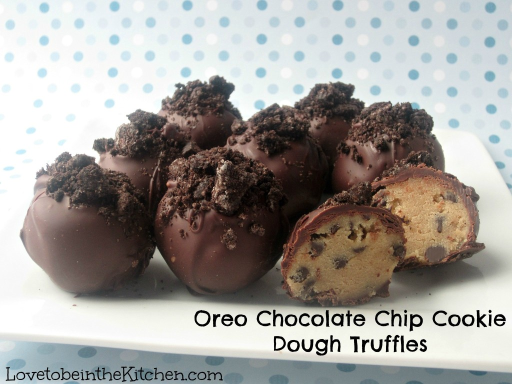 Oreo Chocolate Chip Cookie Dough Truffles - Love to be in the Kitchen