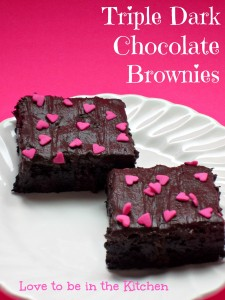 Triple Dark Chocolate Brownies
