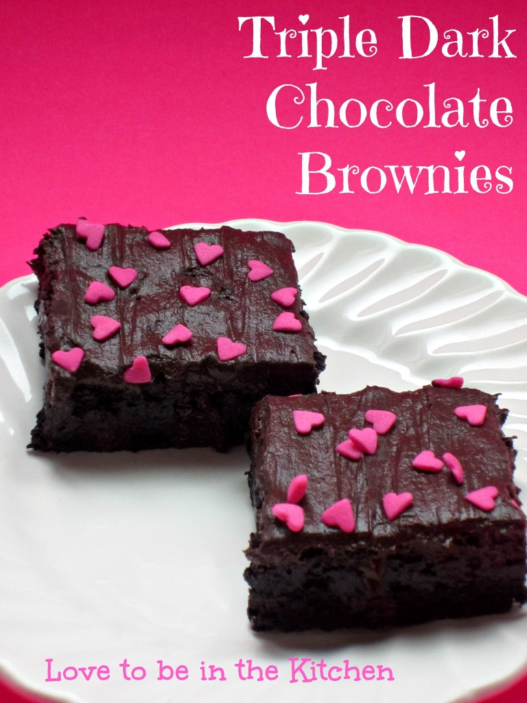 Triple Dark Chocolate Frosted Brownies