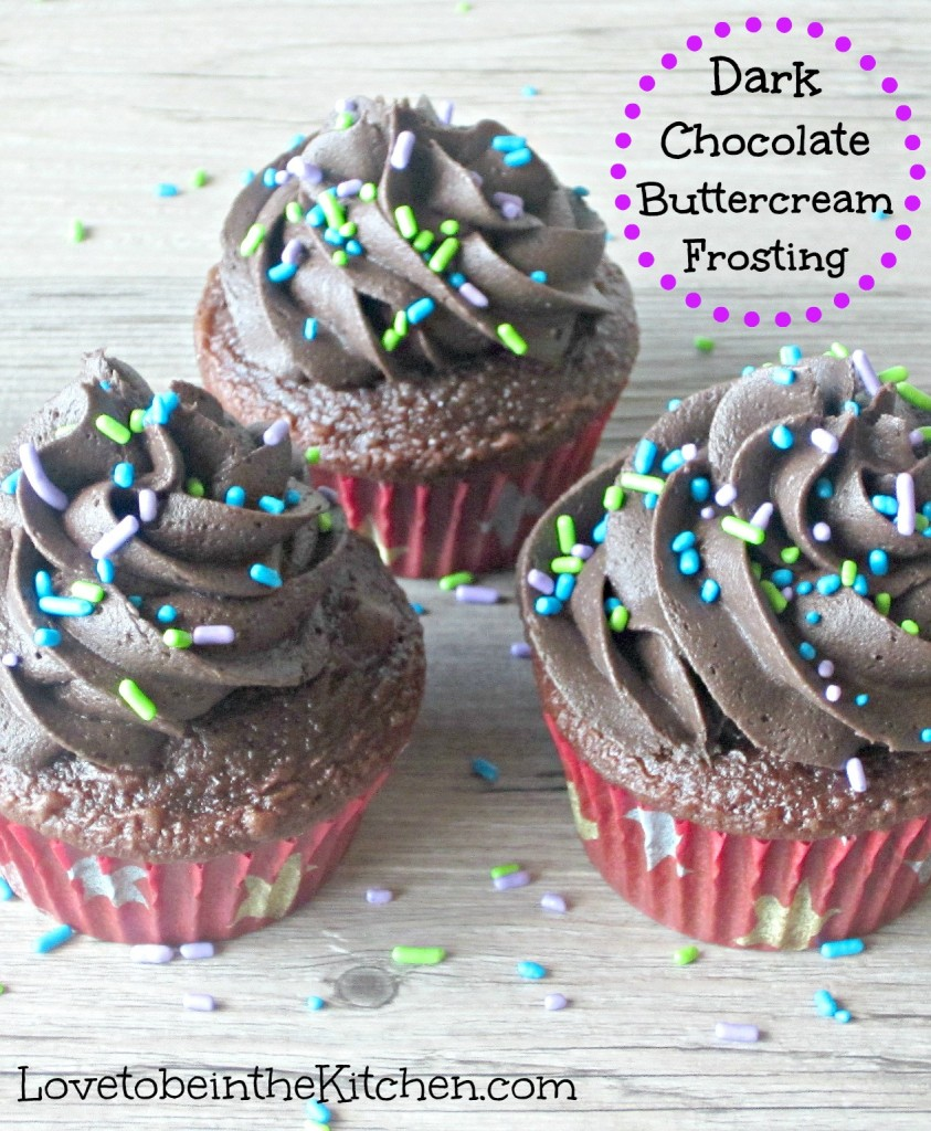 Dark Chocolate Buttercream Frosting