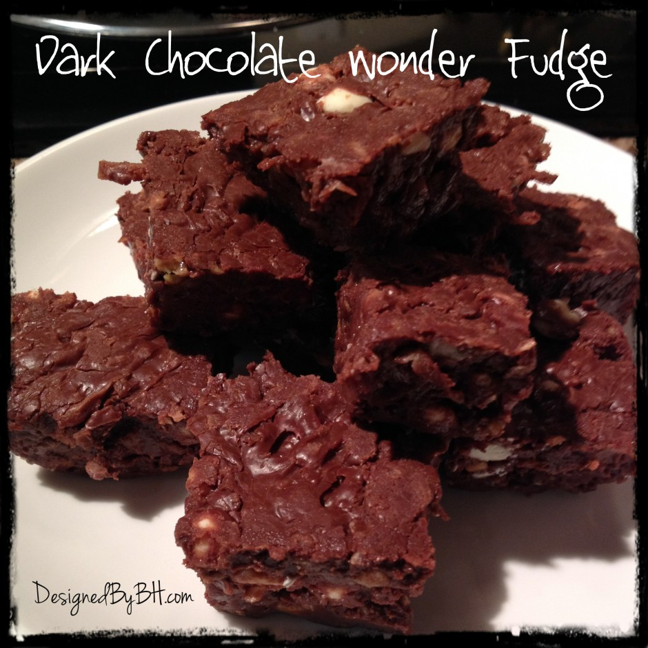 Dark Chocolate Wonder Fudge