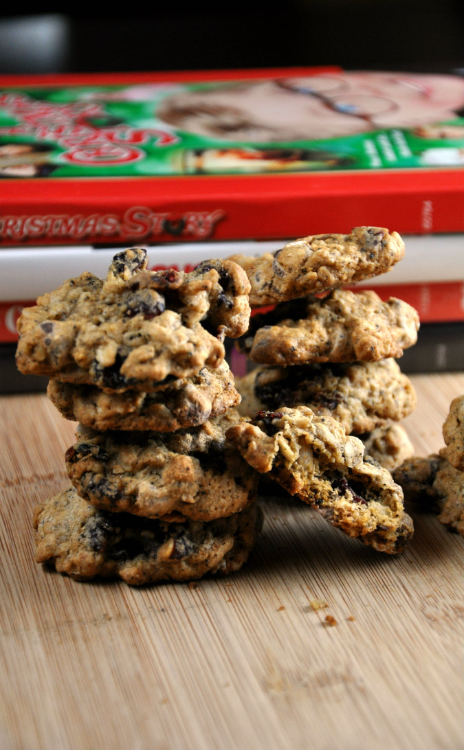Healthy Dark Chocolate Cranberry Oatmeal Cookies from All Four Burners