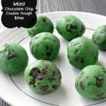 Mint Chocolate Chip Cookie Dough Bites
