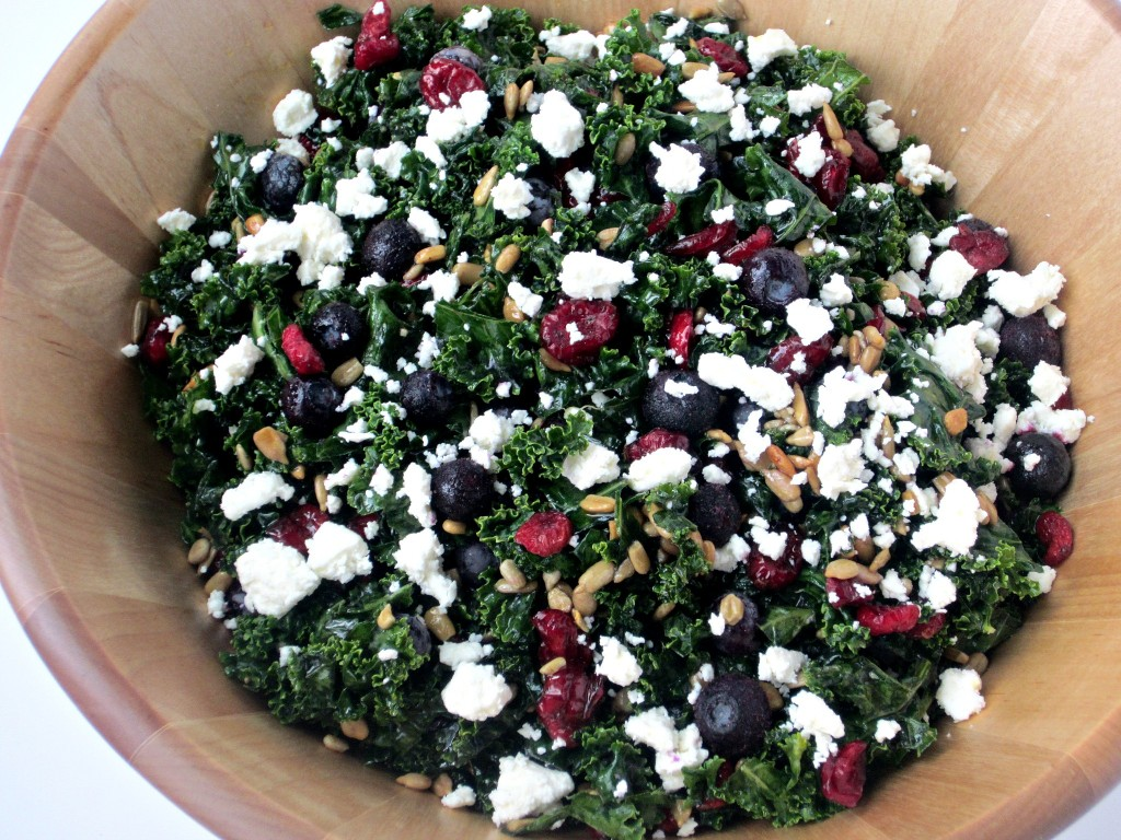 Red, White and Blue Kale Salad